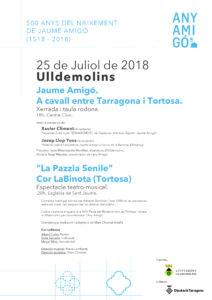 Cartell Sant Jaume 2018